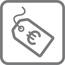 Pensioen kosten icoon