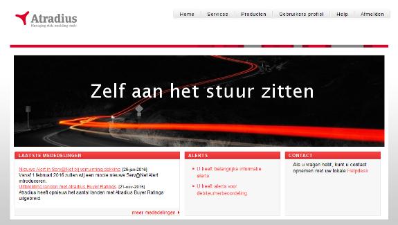 ServNet online credit management  Atradius Nederland